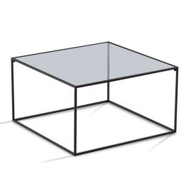 TRIFOLD DESIGN BOX COFFEE TABLE GLASS TOP