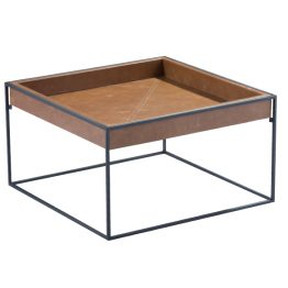 TRIFOLD DESIGN BOX COFFEE TABLE TOP LEATHER TRAY
