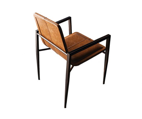 TRIFOLD DESIGN DIVA DINING CHAIR LEATHER