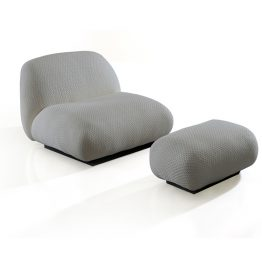 TRIFOLD DESIGN DORA LOUNGE CHAIR AND OTTOMAN