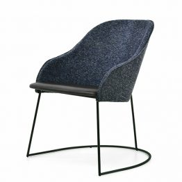 TRIFOLD DESIGN SHELL DINING CHAIR