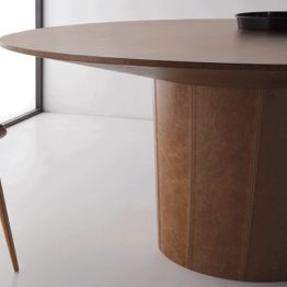 TRIFOLD DESIGN NUT DINING TABLE