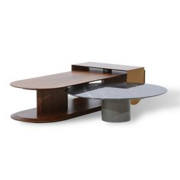 TRIFOLD DESIGN STEP COFFEE TABLE SET