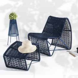 TRIFOLD DESIGN CASSIS LOUNGE CHAIR AND OTTOMAN